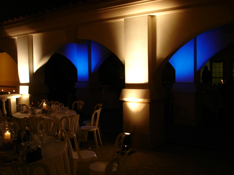 uplighting for wedding